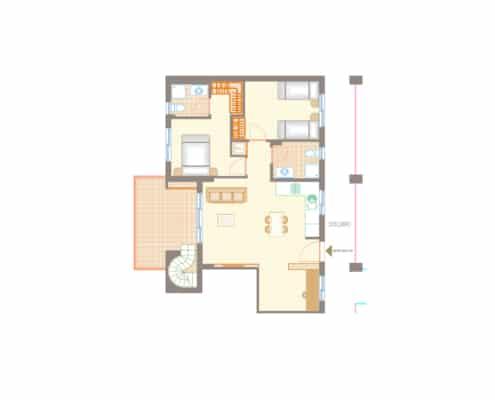 thalassa 2 bed penthouse